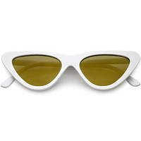 Women's 1990's Retro Narrow Flat Lens Cat Eye Sunglasses C521