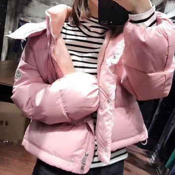 Kalete Moncler Women Fashion Down Coat Cardigan Jacket