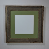 Rustic earth friendly reclaimed wood photo frame for 12x12 and smaller prints