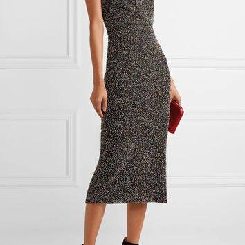 Cushnie et Ochs - Piper beaded cotton-mesh midi dress