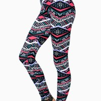 Pretty Pink Tribal Legging