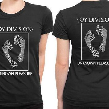 DCCKG72 Joy Division Unknown Pleasure Ladies Foot 2 Sided Womens T Shirt