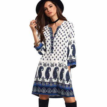 Casual Boho Mini Dress