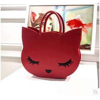 Cute Sexy Cat Cartoon Purse Handbag