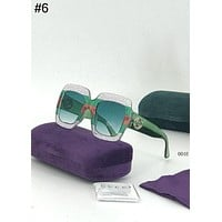 GUCCI Tide brand large frame flash diamond color transparent fashion UV protection sunglasses #6