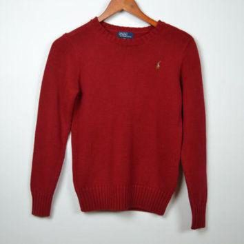Vintage Red Polo Ralph Lauren Knitted Sweater