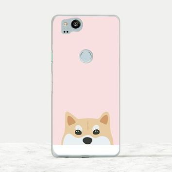 Cute Corgi on Pink background soft rubber phone case for Corgi owners