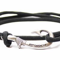 Black Fish Hook Bracelet (New)