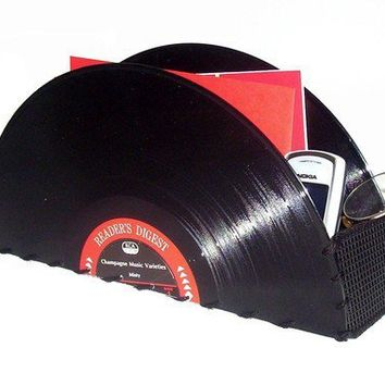 Vinyl Record Storage Organizer for Accessories by retrograndma