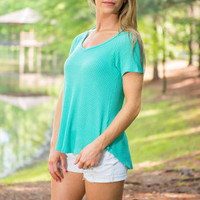 Stay With Me Top, Turquoise