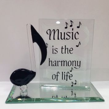 Glass Baron Music Note Plaque