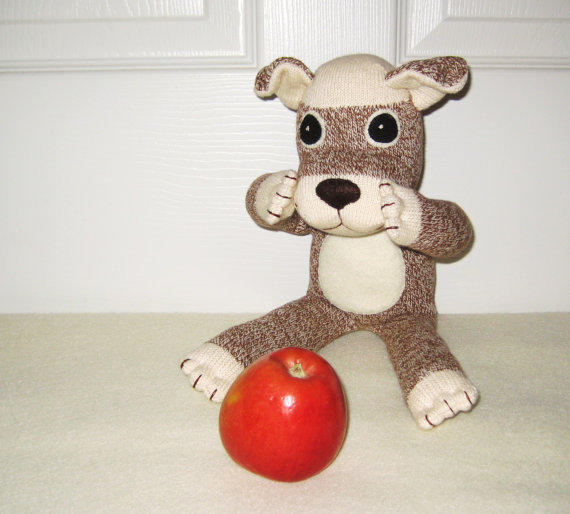 Stuffed Monkey Dog Toy Stuffed Dog Toy Sock Monkey