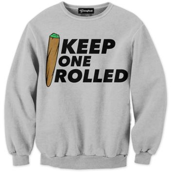 Keep One Rolled Crewneck