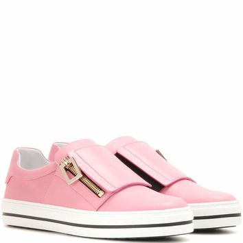 Sneaky Viv embellished leather sneakers