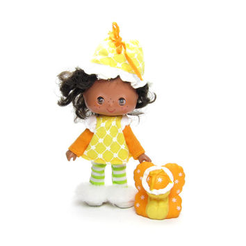 Orange Blossom Sweet Sleeper Doll with Butterfly Pet Marmalade Vintage Strawberry Shortcake Toy