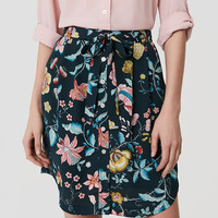 Vine Tie Waist Button Skirt | LOFT