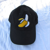 Tropical Banana Patch on Black Baseball Hat