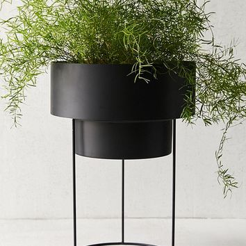 """Noa 12"""" Metal Planter + Stand   Urban Outfitters"""
