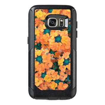 Orange Siberian Wallflowers Floral Photo OtterBox Samsung Galaxy S7 Case