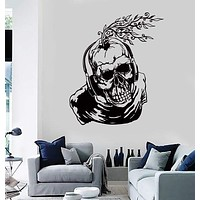 Wall Stickers Vinyl Decal Scary Skull In Headphones Creepy Cool Decor  Unique Gift (z2178)