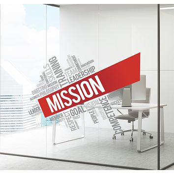 Wall Decal Office Mission Leader Business Colored Interior Decor zc029