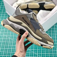 Balenciaga Triple S Trainers Grey Sneakers - Best Online Sale