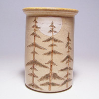 Pine Tree Pottery Utensil Holder and Vase Limited Series 24 (narrow)