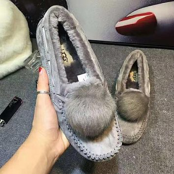 """UGG"" Winter New Trending Women Stylish Wool Shoes Grey"