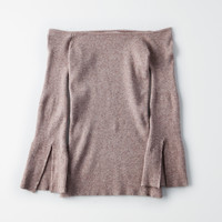Don't Ask Why Off The Shoulder Bell Sleeve Sweater, Heather Gray