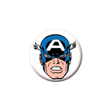 Captain America Head Button