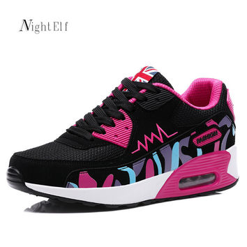 Night Elf women running shoes High quality sneakers women breathable air mesh tennis shoes Winter sport shoes for women 2016 new