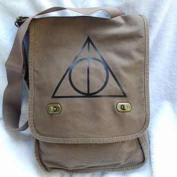 Harry Potter Messenger Bag - Canvas Field Bag
