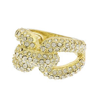 Linked-In Crystal Ring