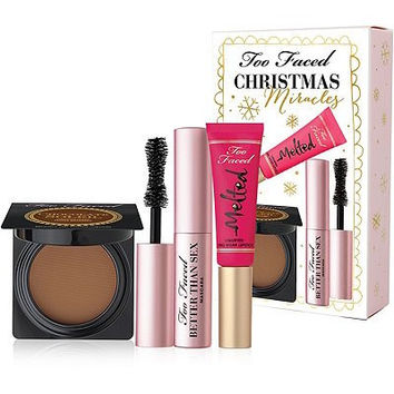 Too Faced Christmas Miracles (Bronzer, Lipstick, Mascara) 3-pc Set