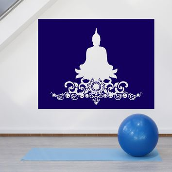 Large Vinyl Decal Sticker Yoga Pose Buddha Symbol God Buddhism Unique Gift (n940)