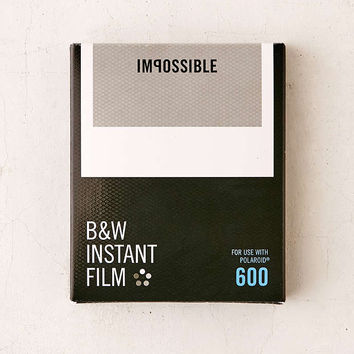 Impossible Black + White Polaroid 600 Instant Film - Urban Outfitters
