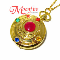 SAILOR MOON Crystal Transformation Pocket Watch Necklace