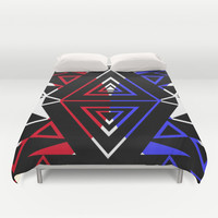 TRIANGALISM Duvet Cover by Chrisb Marquez