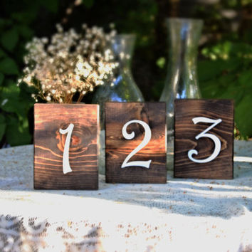 Table Numbers Double Sided SHIPS IN 3-5 DAYS!
