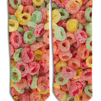 Cold Cereal Barely Show Socks - Cold Cereal Barely Show SocksCereal