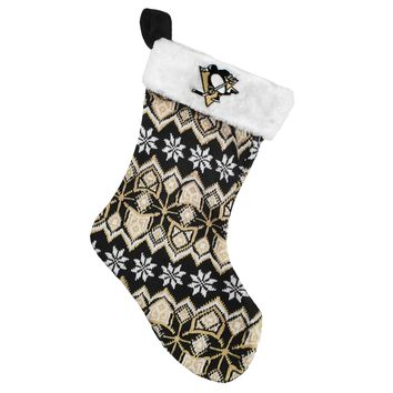 Pittsburgh Penguins 17 inch Aztec Christmas Stocking