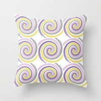 Throw Pillow Cover, Purple Lilac Grey Yellow White, Home Decor, Mix and Match Pillow Covers, Sofa Pillow Cover, Designer prints