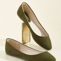 Pop of Pep Flat in Thyme | Mod Retro Vintage Flats | ModCloth.com