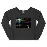 Radio City Manhattan NYC-Female Black Hoodie