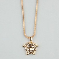 The Gold Gods Medusa Head Necklace Gold One Size For Men 23971462101