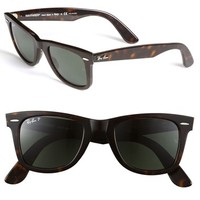 Men's Ray-Ban 'Classic Wayfarer' 50mm Polarized Sunglasses - Tortoise Polarized