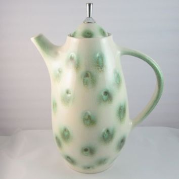 Mid Century Modern Royal Haeger Pottery Dimpled Coffee Pot R 1585 S Eames Era
