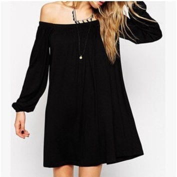Long Sleeve One Piece Dress [6339064513]