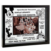 """disney parks clear glass best vacation ever picture frame 4""""x6"""" new with box"""