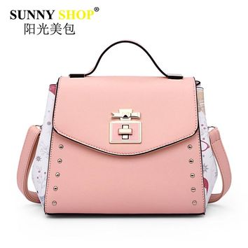 luxury handbags women bags designer pink shoulder messenger bag high quality pu leather crossbody bags for women 2017 sac MB02